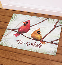 Holiday Décor - Personalized Snowbirds Doormat