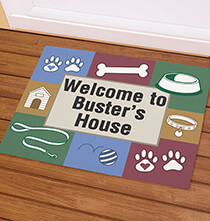Holiday Décor - Personalized Dog Welcome Doormat
