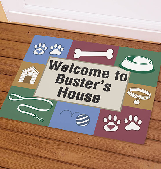 Personalized Dog Welcome Doormat