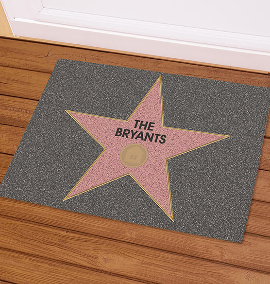 Personalized Hollywood Star Doormat - View 1