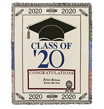 Pillows, Blankets & Throws - Personalized 2020 Graduation Afghan