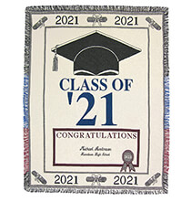 Pillows, Blankets & Throws - Personalized 2021 Graduation Afghan