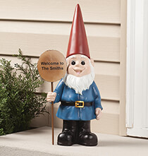 Outdoor Plaques & Decor - Personalized Resin Garden Gnome