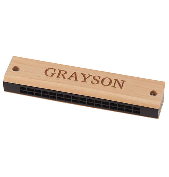 Personalized Wooden Harmonica