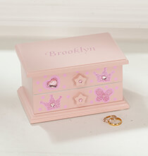 Personalized Children's Pink Musical Jewelry Box