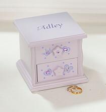 Personalized Children's Purple Musical Jewelry Box