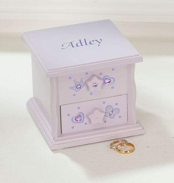 Personalized Children's Purple Musical Jewelry Box