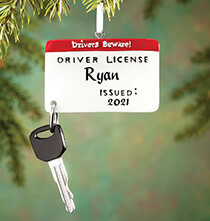 Occasion & Themed Ornaments - Personalized New Driver Ornament