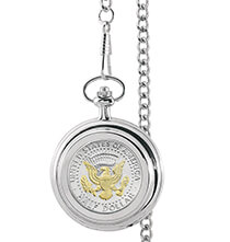 Accessories for Him - Monogrammed Presidential Seal Half Dollar Pocket Watch