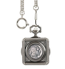 Accessories for Him - Monogrammed Buffalo Nickel Coin Pocket Watch