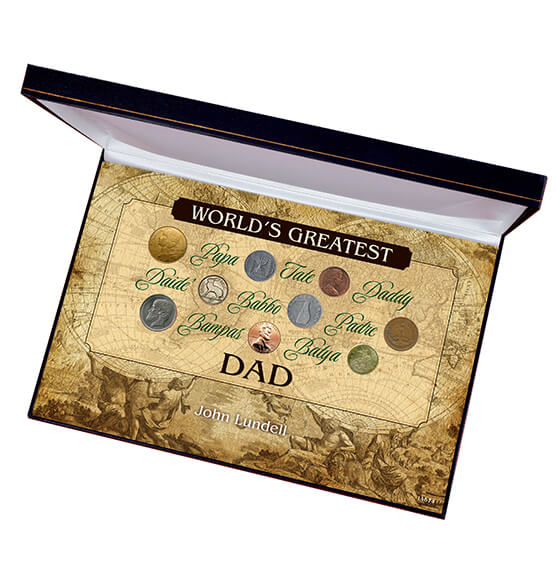 Greatest Dad Box Coin Set