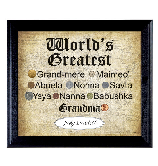 World's Greatest Grandma World Coin Collection Frame
