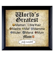 Artisan Frames - World's Greatest Mom Frame