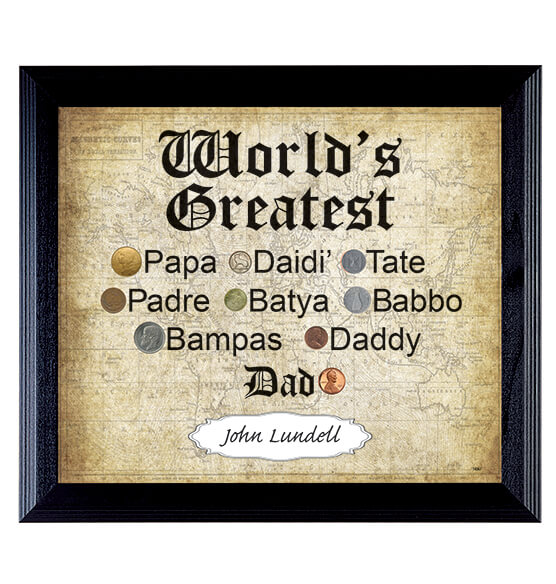 World\'s Greatest Dad Frame - Frames & Albums for Him - For Him ...