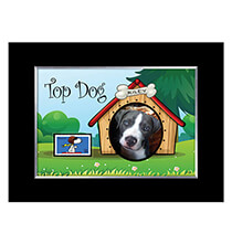 Pets - Top Dog Personalized Pet Photo Frame with Stamp