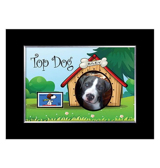 Top Dog Personalized Pet Photo Frame with Stamp