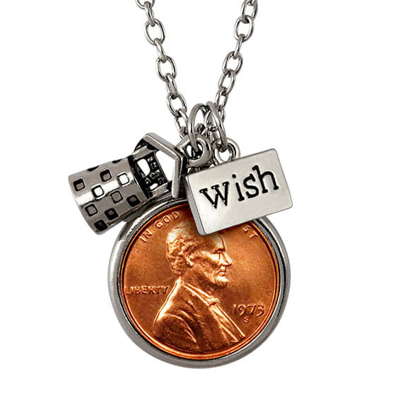 Year to Remember Penny Wish Coin Charm Necklace