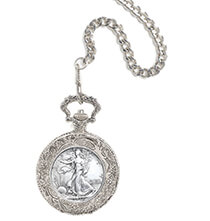Accessories for Him - Year To Remember Half Dollar Coin Pocket Watch