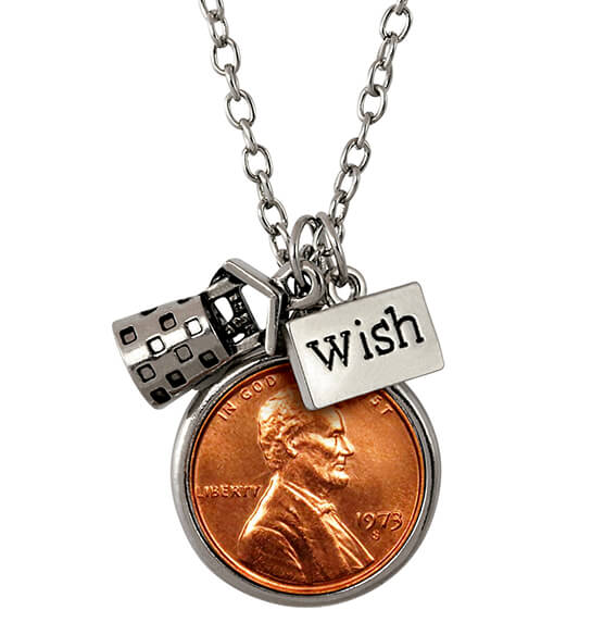 Year To Remember Children's Penny Wish Coin Necklace
