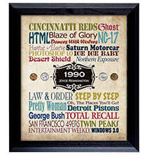 Personalized Year In Time Celebration Wall Frame Collection
