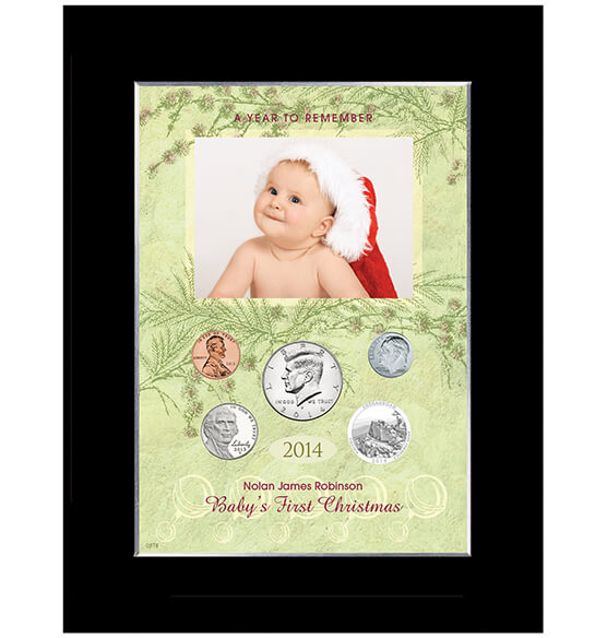 babys first christmas to remember personalized photo frame