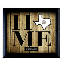 Personalized Home State Quarter Frame Series