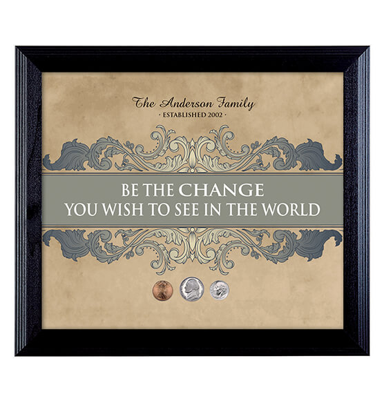 Be The Change Personalized Wall Frame