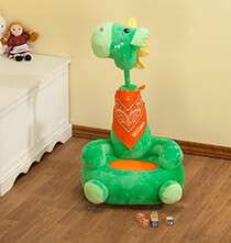 Room Décor - Personalized Children's 2-in-1 Dragon Chair