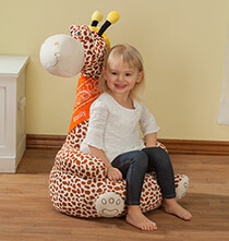 Room Décor - Personalized Children's 2-in-1 Giraffe Chair