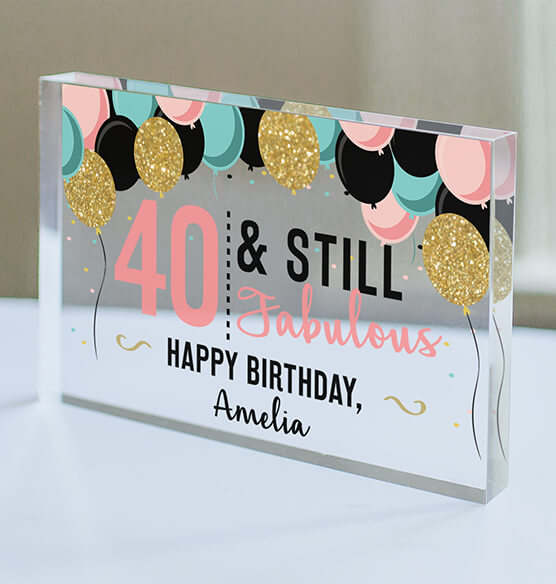 Personalized Acrylic Block Birthday Keepsake