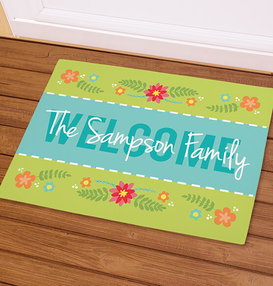 Personalized Welcome Spring Doormat