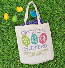 Personalized Egg Hunter Canvas Tote