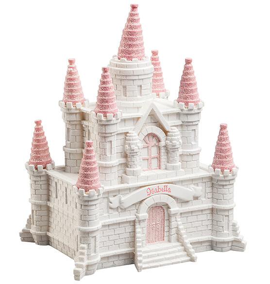 Personalized Pink Princess Castle Bank