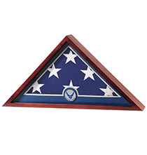 Gifts for Veteran's Day - Flag Display Case with Medallion