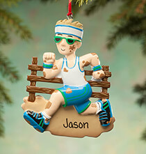 Misc. Sports - Personalized Mudder Ornament