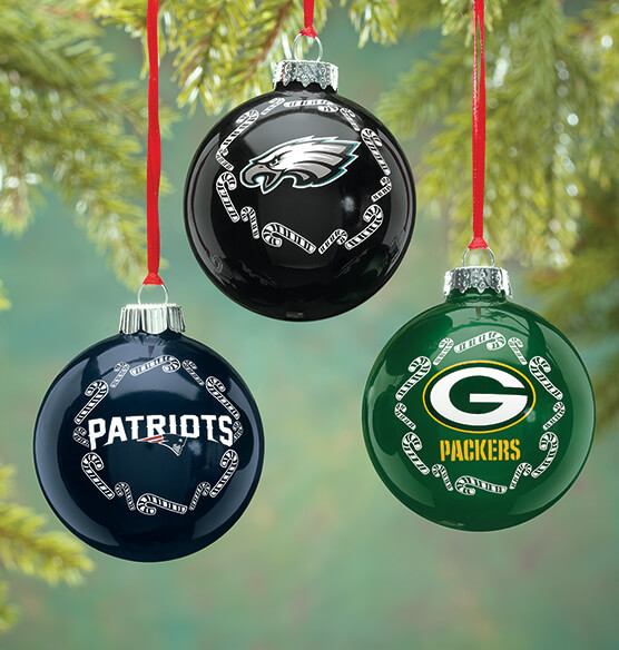 NFL Glass Ball Ornament - View 1