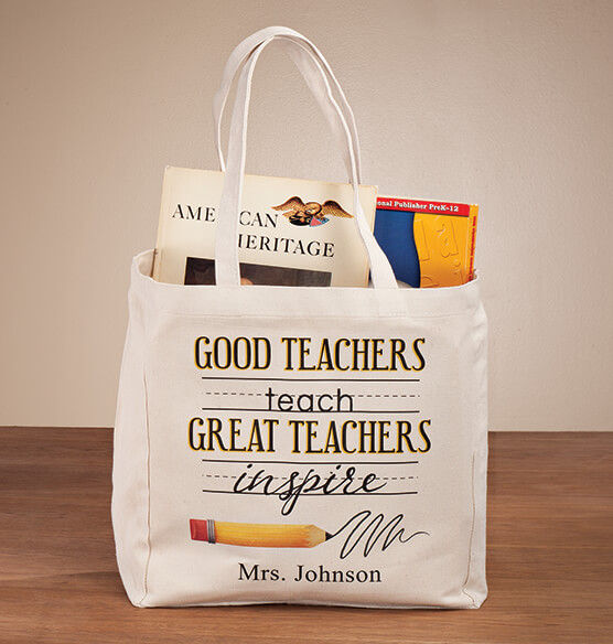 Personalized Teach & Inspire Tote - View 1