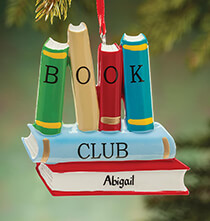 New - Personalized Book Club Ornament