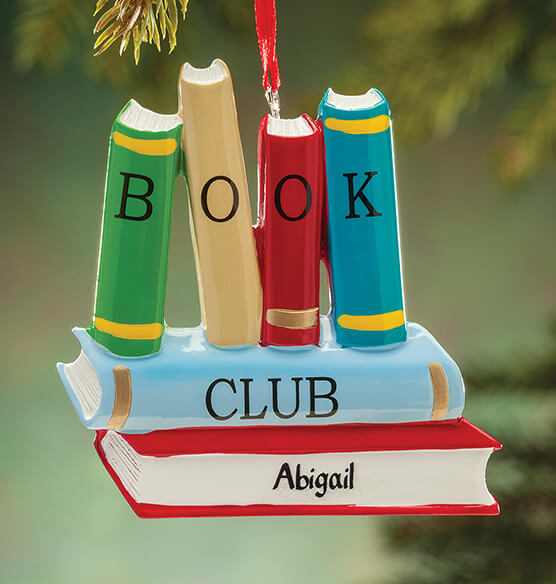 Personalized Book Club Ornament