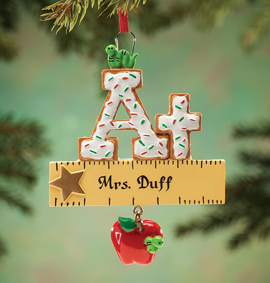 Personalized A+ Teacher Cookie Ornament