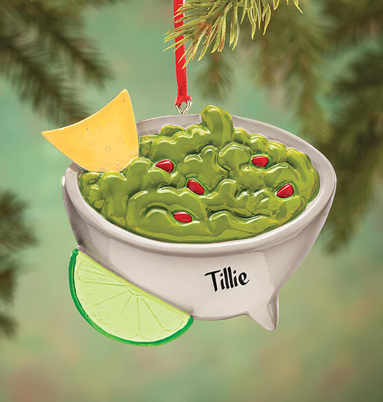 Personalized Guacamole Bowl Ornament - View 1