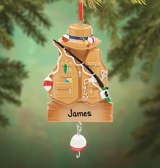Personalized Fisher Ornament