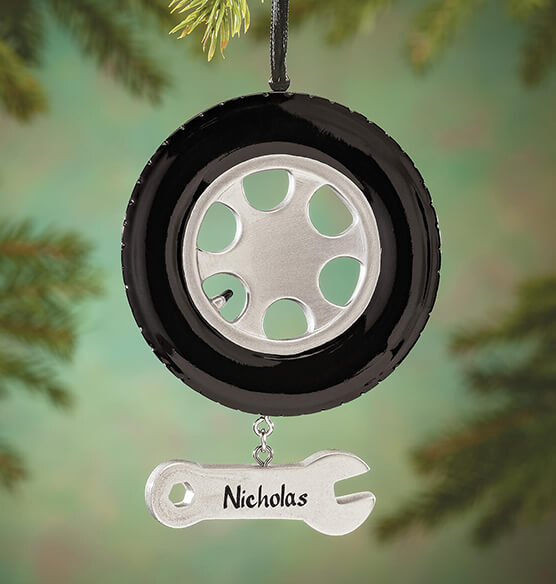 Personalized Tire Ornament