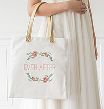 Mother's Day - Personalized Floral Canvas Tote