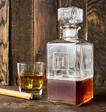 Entertaining for Him - Personalized Glass Decanter 34 oz.