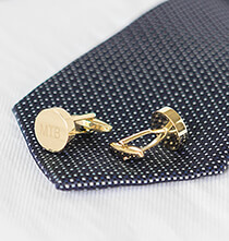 Accessories for Him - Personalized Round Cuff Links