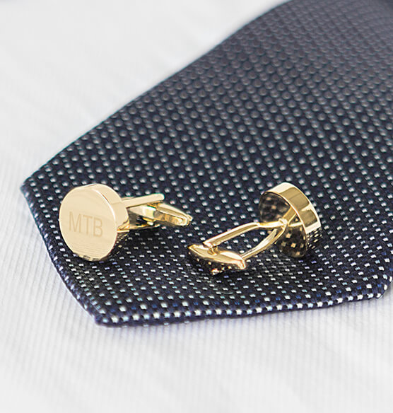 Personalized Round Cuff Links