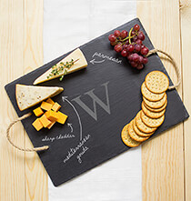 Entertaining for Her - Personalized Slate Serving Board