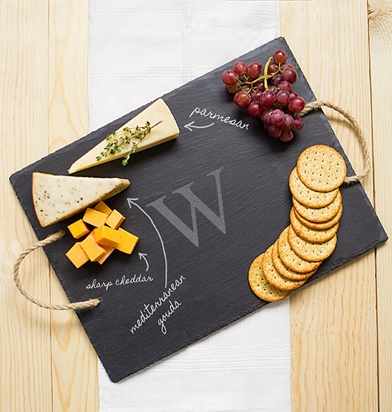 Personalized Slate Serving Board - View 1