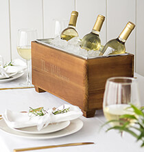 Entertaining for Him - Personalized Wooden Wine Trough